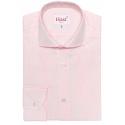 Extra-slim pink check shirt