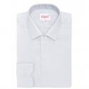 Chemise extra-ajustée grise à col français