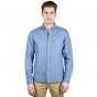 Linen-cotton denim shirt
