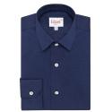 Chemise bleu nuit à col français
