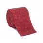 Knitted linen red tie