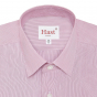 Extra-slim red semi plain stripe shirt with french collar