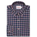 Chemise flanelle à petits carreaux