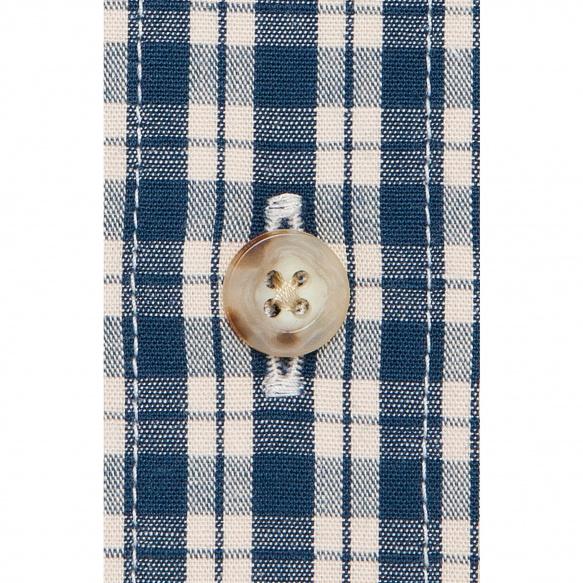 Chemise à carreaux bleu canard japonais