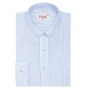 Chemise rayée bleu en lin coton