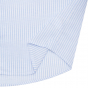 Linen-cotton blue stripe shirt