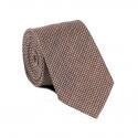 Cravate Pied de Poule Marron