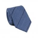 Cravate Bleu Denim à Rayures