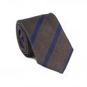Cravate Marron à Rayures