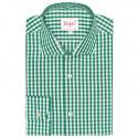 Chemise à Grands Carreaux Verts