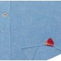 BLUE RED POCKET CASUAL SHIRT