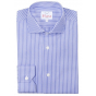 EXTRA-SLIM BLUE SHIRT WITH WHITE STRIPE
